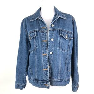 Bill Blass 90's Trucker Denim Jean Jacket